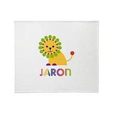 Jaron Loves Lions Throw Blanket