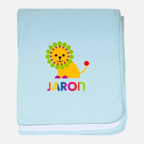 Jaron Loves Lions baby blanket