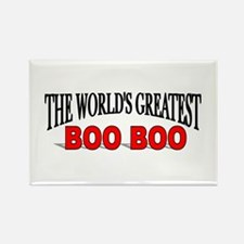 """The World's Greatest Boo Boo"" Rectangle Magnet"