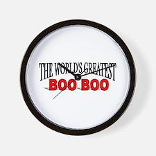 """The World's Greatest Boo Boo"" Wall Clock"