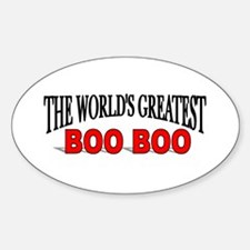 """The World's Greatest Boo Boo"" Oval Decal"