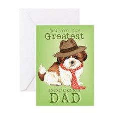 Shih Tzu Dad Greeting Card