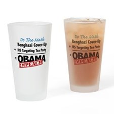 Benghazi Cover Up Impeach Obama Drinking Glass