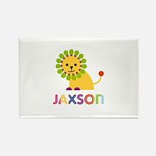 Jaxson Loves Lions Rectangle Magnet