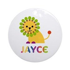 Jayce Loves Lions Ornament (Round)