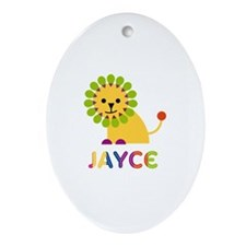Jayce Loves Lions Ornament (Oval)