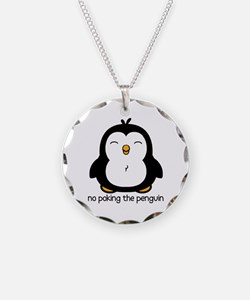 No Poking The Penguin Necklace