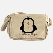 No Poking The Penguin Messenger Bag