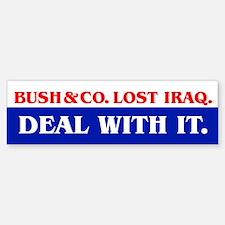 BUSH & CO. LOST IRAQ Bumper Bumper Bumper Sticker
