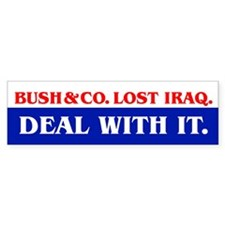 BUSH & CO. LOST IRAQ Bumper Bumper Sticker