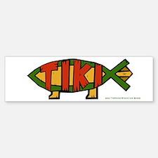 Tiki Fish Bumper Bumper Bumper Sticker