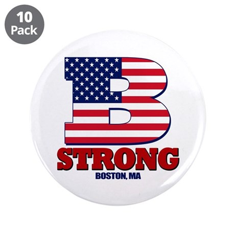 """Boston Strong 3.5"""" Button (10 pack)"""