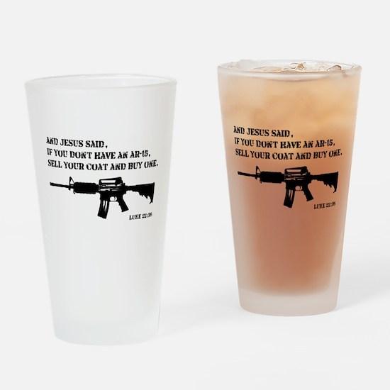 Jesus AR-15 Drinking Glass