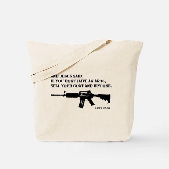 Jesus AR-15 Tote Bag