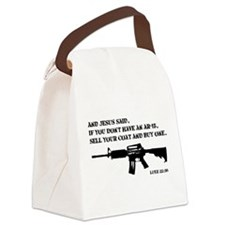 Jesus AR-15 Canvas Lunch Bag