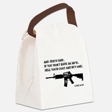 Jesus AR-15 Canvas Lunch Bag