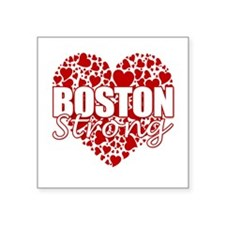 "Boston Strong Square Sticker 3"" x 3"""