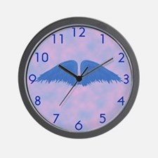 Blue Wings Wall Clock