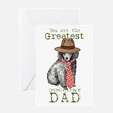 Miniature Poodle Dad Greeting Card
