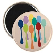 Pop Art Spoons Magnet