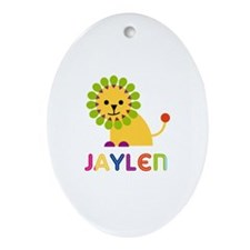 Jaylen Loves Lions Ornament (Oval)