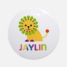 Jaylin Loves Lions Ornament (Round)