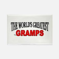 """""""The World's Greatest Gramps"""" Rectangle Magnet"""