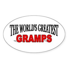 """The World's Greatest Gramps"" Oval Decal"