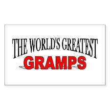 """The World's Greatest Gramps"" Sticker (Rectangular"