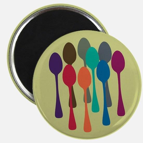 Pop Art Spoons Magnet
