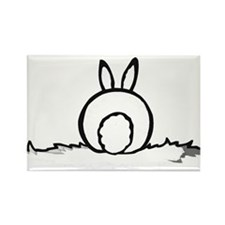 Cotton Tail Rectangle Magnet