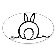Cotton Tail Oval Bumper Stickers