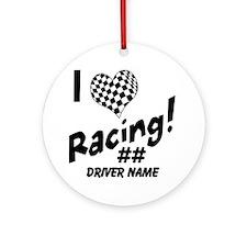 Custom Racing Ornament (Round)