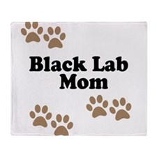 Black Lab Mom Throw Blanket