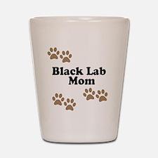 Black Lab Mom Shot Glass