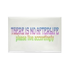 There is no Afterlife Rectangle Magnet
