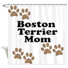 Boston Terrier Mom Shower Curtain