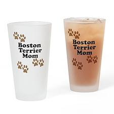 Boston Terrier Mom Drinking Glass