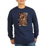 Miyamoto Musashi Fights Nue Long Sleeve Blue Tee