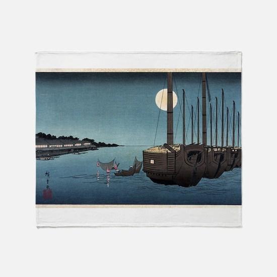 Fukeiga 3 - Hiroshige Ando - 1858 - woodcut Throw