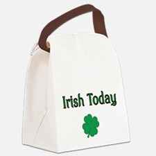 Irish Today with Shamrock Canvas Lunch Bag
