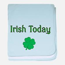 Irish Today with Shamrock baby blanket