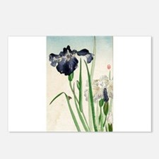 Irises - anon - 1900 - woodcut Postcards (Package
