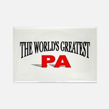 """""""The World's Greatest Pa"""" Rectangle Magnet"""