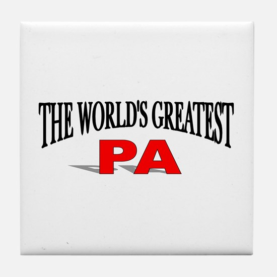"""The World's Greatest Pa"" Tile Coaster"