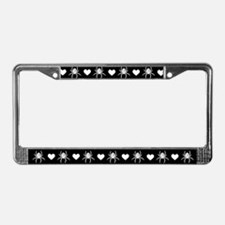 Gothic Spider Heart License Plate Frame