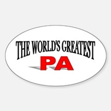 """""""The World's Greatest Pa"""" Oval Decal"""