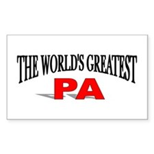 """The World's Greatest Pa"" Rectangle Decal"