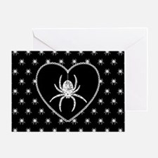 Gothic Spider Heart Greeting Card