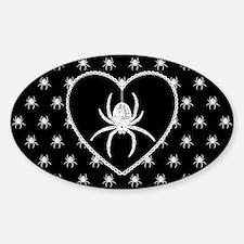Gothic Spider Heart Decal